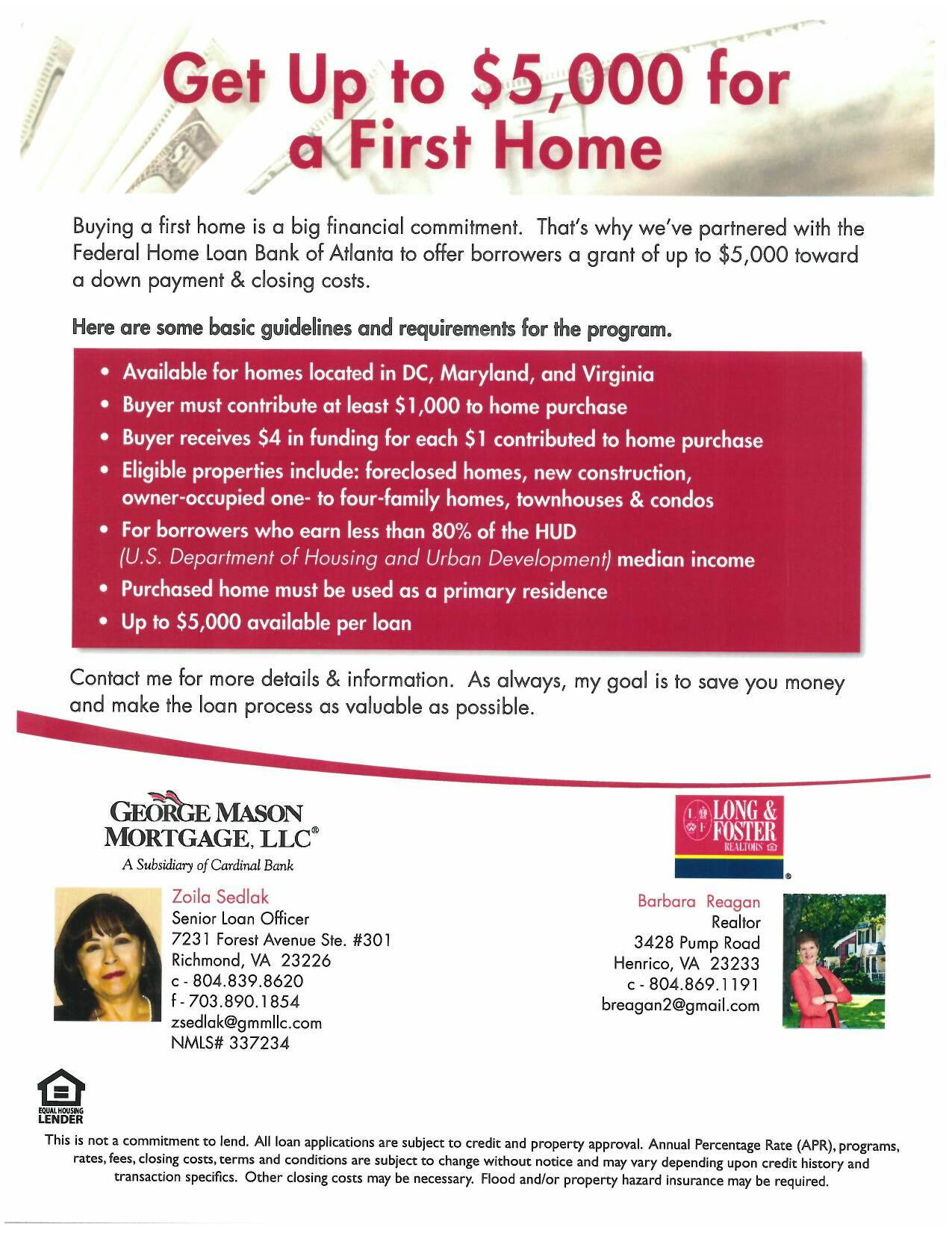 2015 richmond va grants for first time home buyers for First time home buyers plan