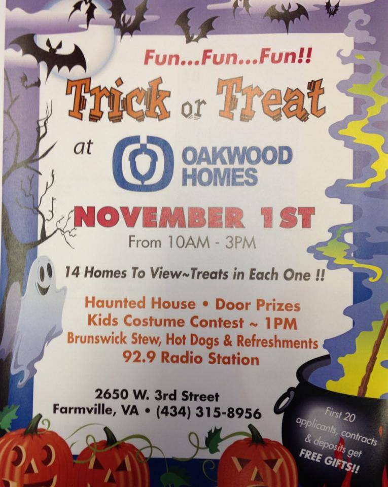Trick or Treating at Oakwood Homes