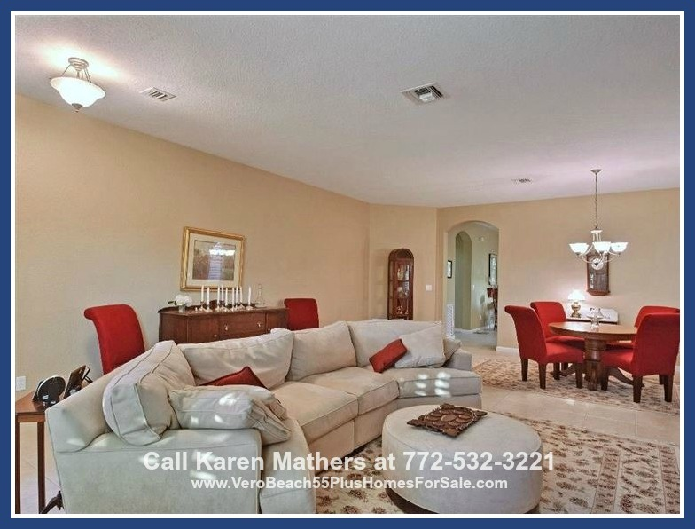 Port St Lucie Real Estate Properties for Sale - Love having friends over? This spacious home for sale in Port St Lucie has a large living area and can fit a big crowd.