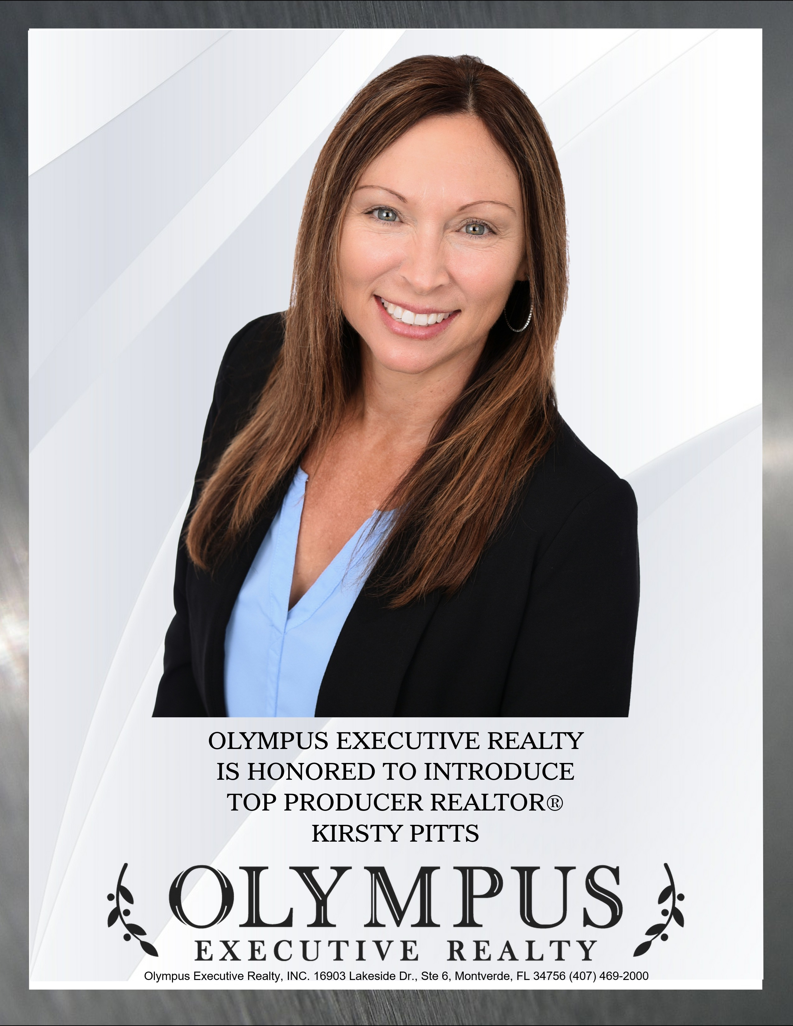 Olympus Introduces Top Producer Kirsty Pitts REALTOR