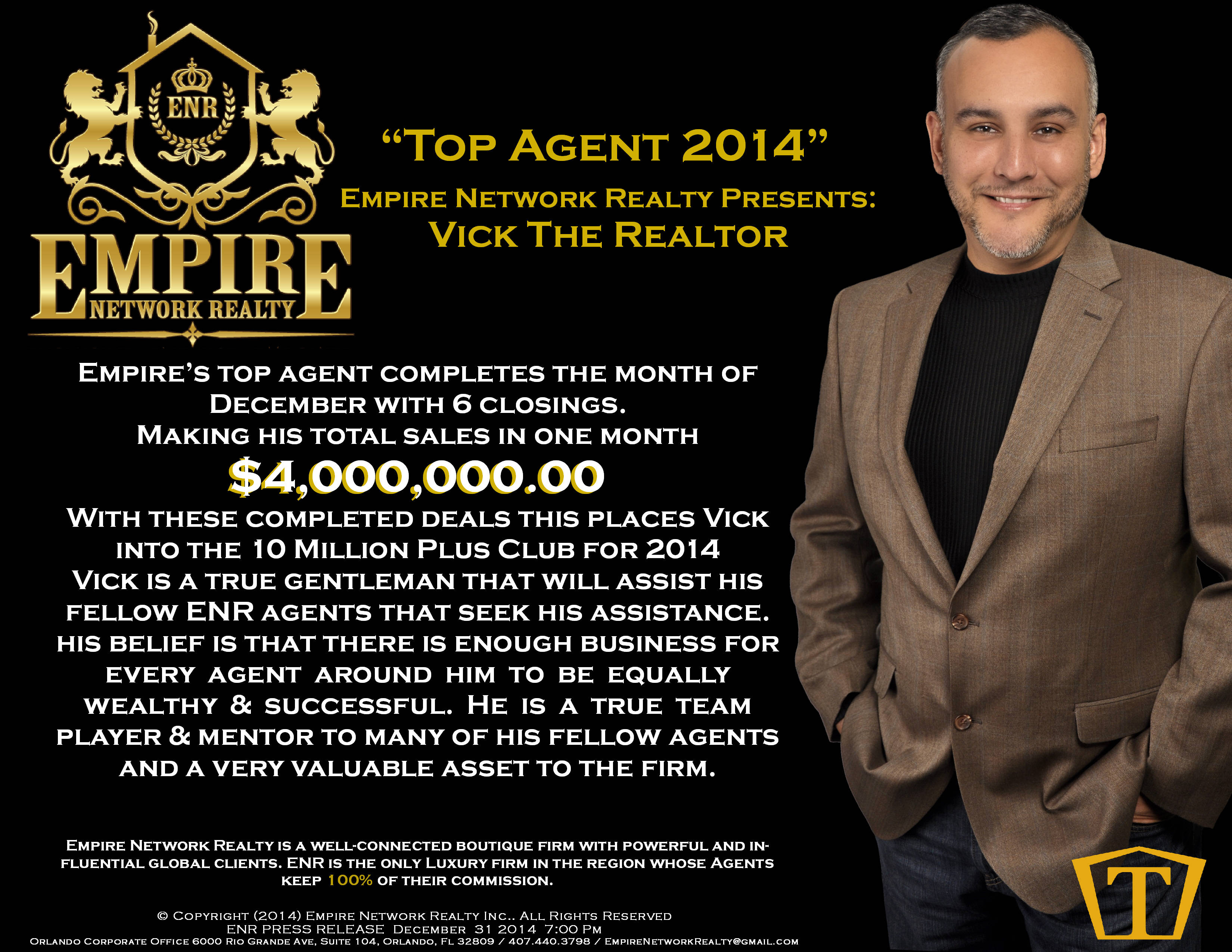 empire network realty top agent 2014. Black Bedroom Furniture Sets. Home Design Ideas