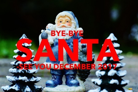 Bye Bye Santa Claus Christmas is over