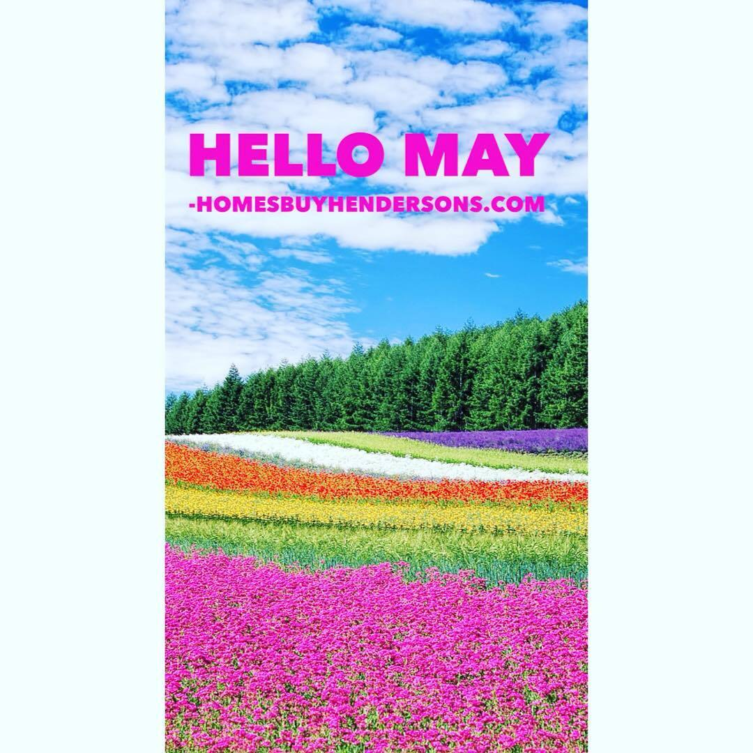 field of flowers Happy May