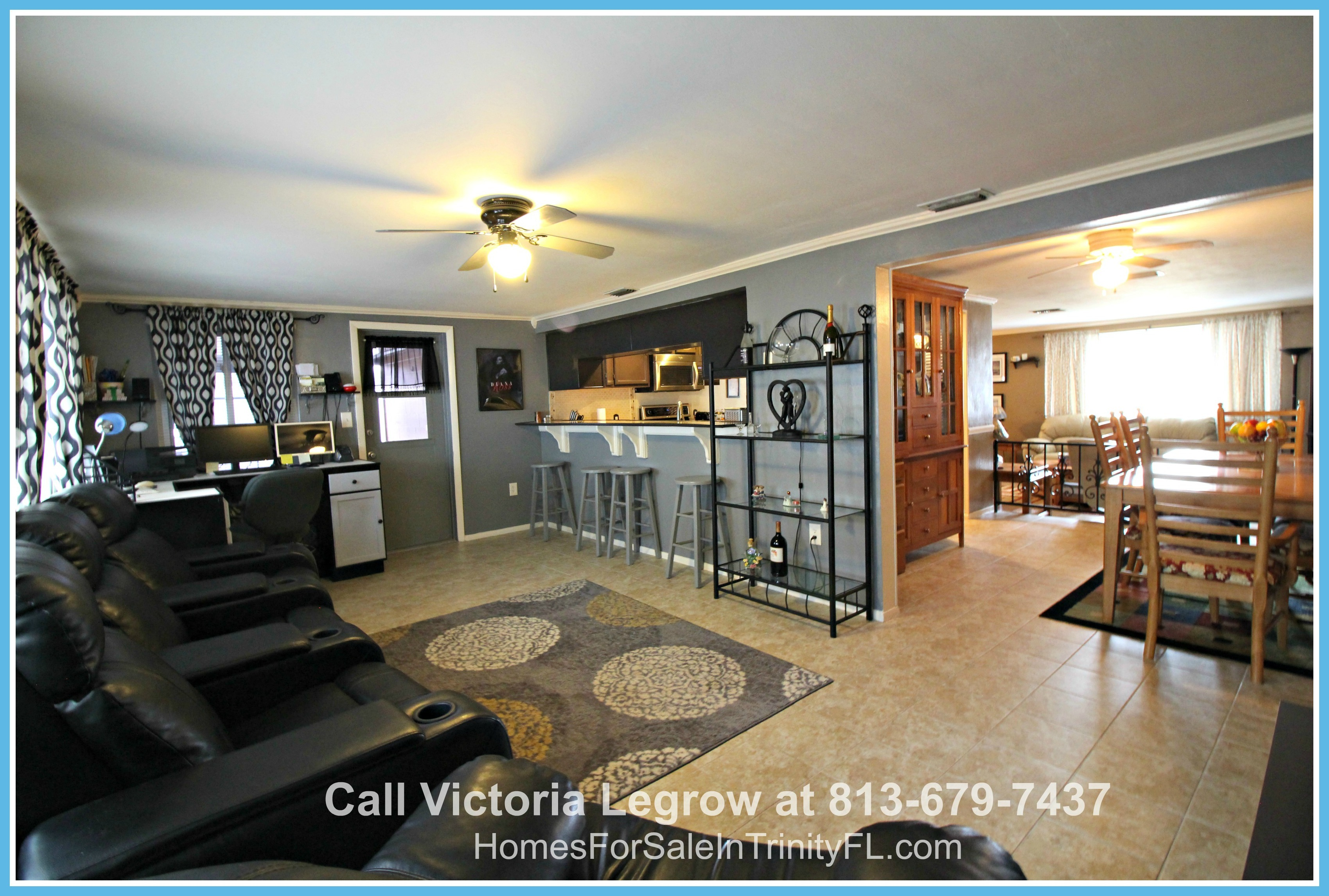 Homes for Sale in FL Holiday - Not only does this home have a kitchen/living room combination, it also has more!