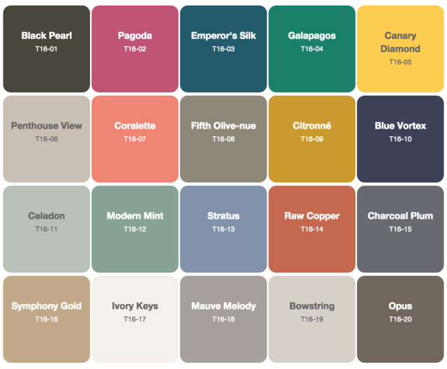 2016 Fantastic ... Colors For 2016