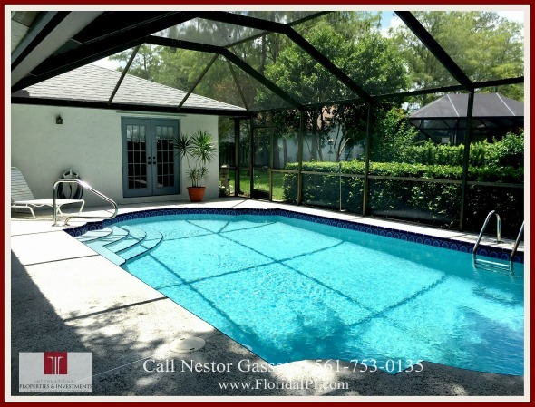 Homes For Sale Near Binks Elementary School in Wellington FL - Weekends are bound to be fun as you relax and enjoy lounging at your screened patio and pool area!