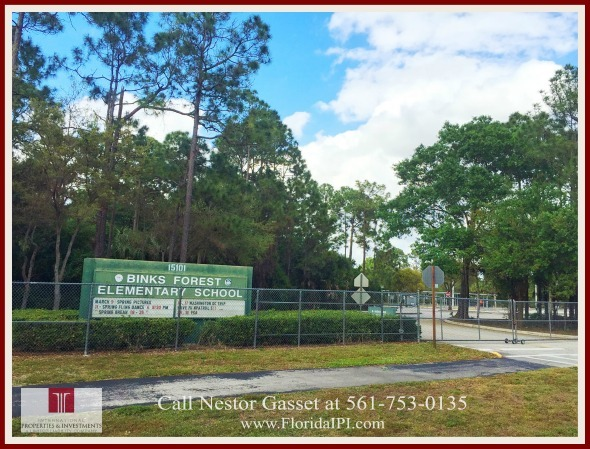 Wellington FL Sugar Pond Manor Home For Sale -  Binks Forest Elementary School is a quick drive away from this Wellington home!