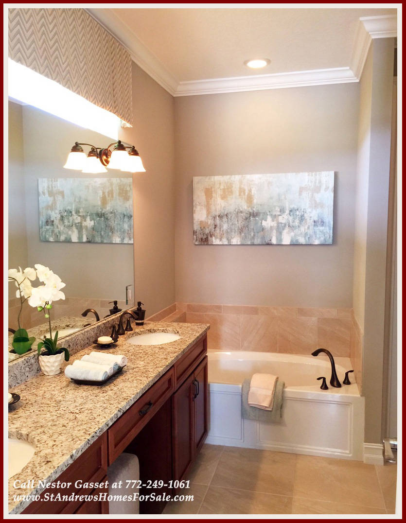 Brand new home in port st lucie fl for sale for Model bathrooms photos