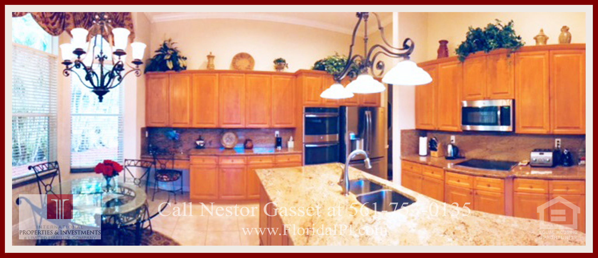 West Palm Beach Fl Golf Course Community Estate Home For Sale   The Kitchen  Of This