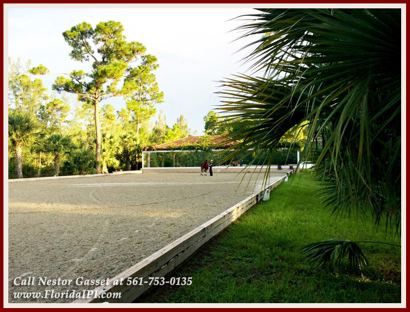 Equestrian Homes For Sale in Fox Trail Loxahatchee FL - 1154 Clydesdale Dr Loxahatchee FL 33470 - Riding Arena With Mirror