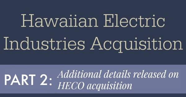 Hawaiian Electric Industries Acquisition