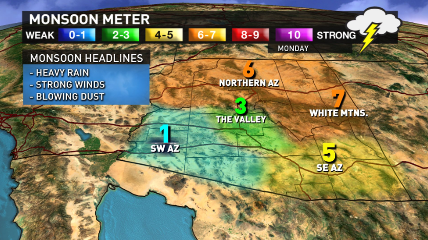 Monsoon Power Monitor : Storms are starting to quot brew az monsoon is back