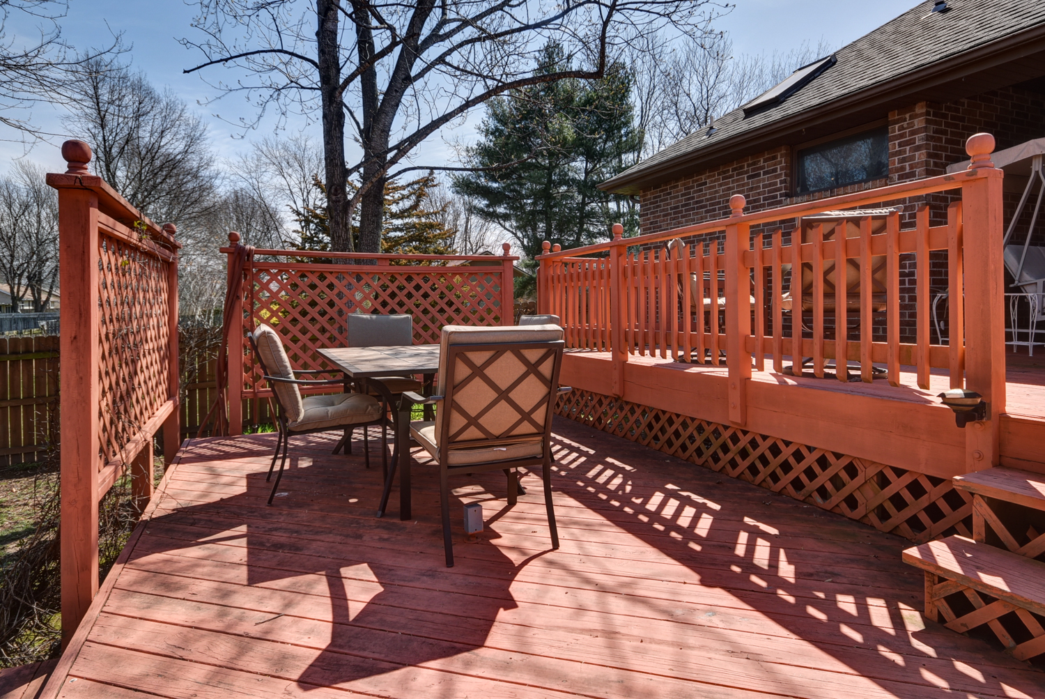 Large Backyard Deck Area